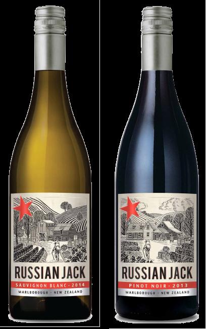 Russian Jack Sauvignon Blanc and Pinot Noir